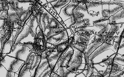 Old map of Langley Priory in 1895