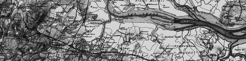 Old map of Tonge Corner in 1895