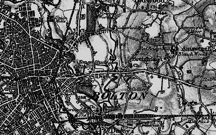 Old map of Tonge Fold in 1896
