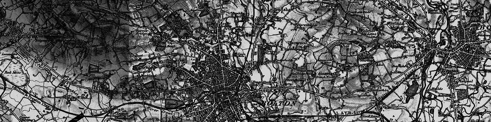 Old map of Tonge Moor in 1896