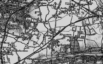 Old map of Tongham in 1895