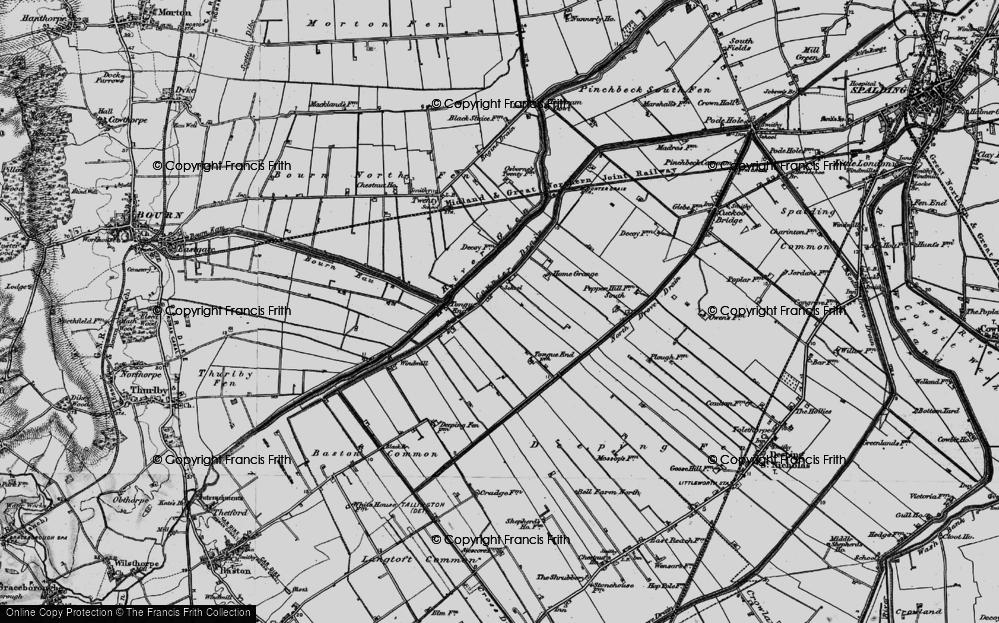 Old Map of Tongue End, 1898 in 1898