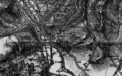 Old map of Tongwynlais in 1898