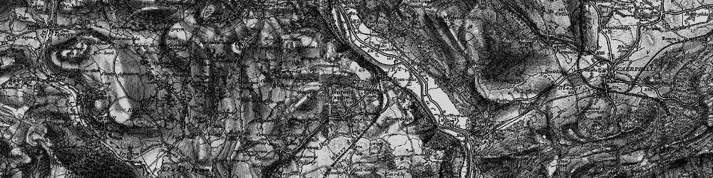 Old map of Tonteg in 1897