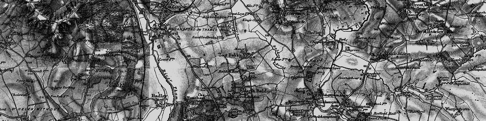 Old map of Toot Baldon in 1895