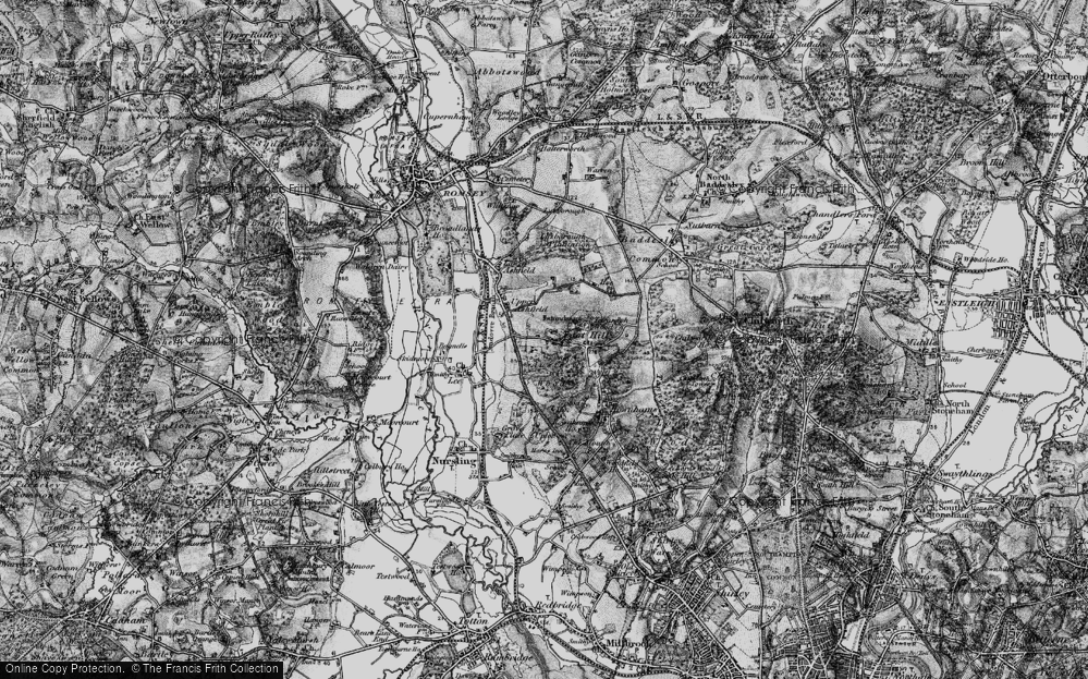 Old Map of Toothill, 1895 in 1895