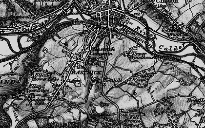 Old map of Toothill in 1896