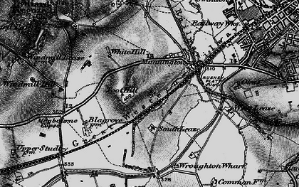 Old map of Toothill in 1898