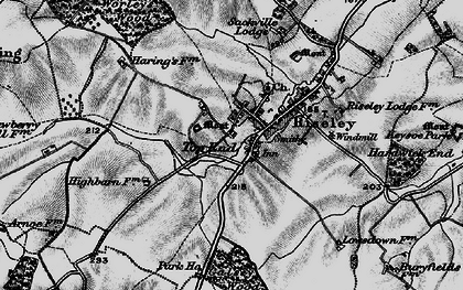 Old map of Worley's Wood in 1898
