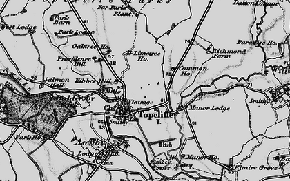 Old map of Topcliffe in 1898