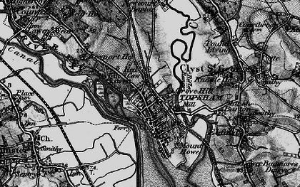 Old map of Topsham in 1898