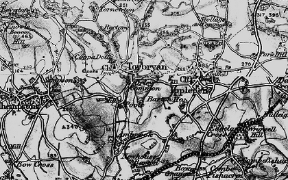 Old map of Torbryan in 1898
