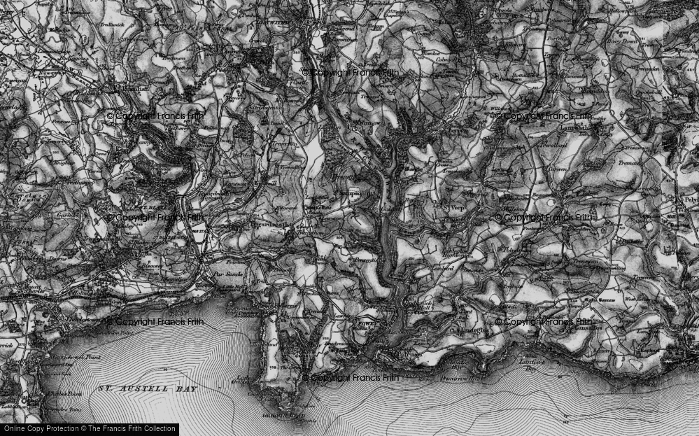 Old Map of Historic Map covering Leyonne in 1896