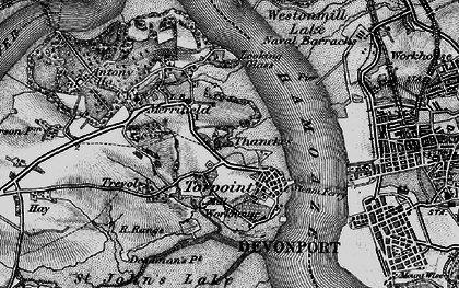 Old map of Torpoint in 1896