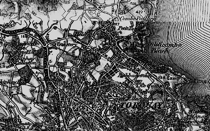 Old map of Torquay in 1898