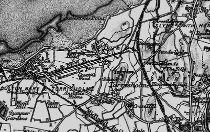 Old map of Torrisholme in 1898