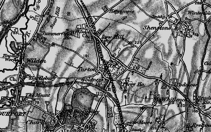 Old map of Whitlenge Ho in 1898
