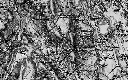 Old map of Whelpstone Lodge in 1898