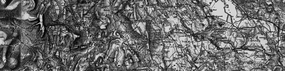 Old map of Whelp Stone Crag in 1898