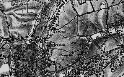 Old map of Abbotstone Down in 1895
