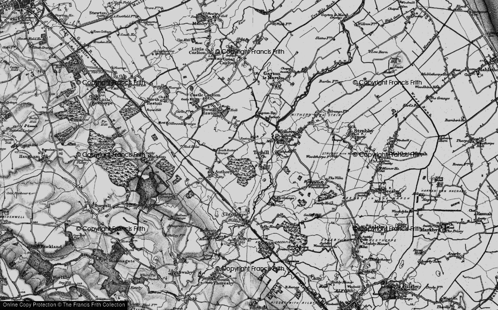 Old Map of Historic Map covering Toot Hill in 1899
