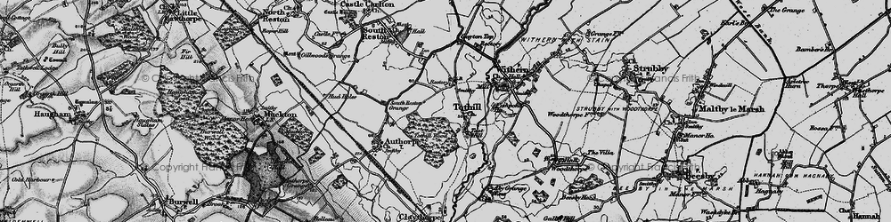 Old map of Toot Hill (Motte and Bailey) in 1899