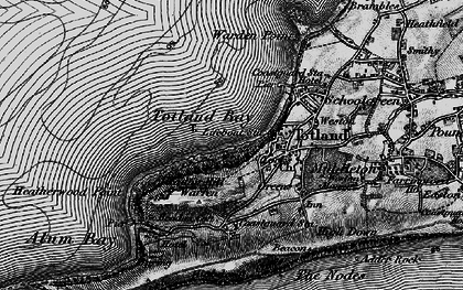 Old map of Totland Bay in 1895