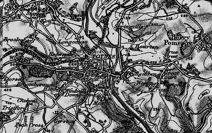 Old map of Totnes in 1898