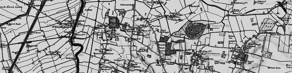 Old map of Westbriggs Wood in 1893