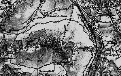 Old map of Totteridge in 1896