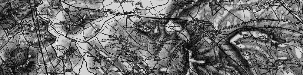 Old map of Totternhoe in 1896