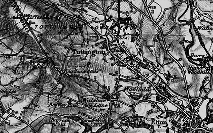 Old map of Tottington in 1896