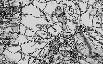 Old map of Totton in 1895