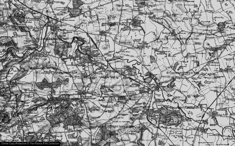 Old Map of Toulston, 1898 in 1898