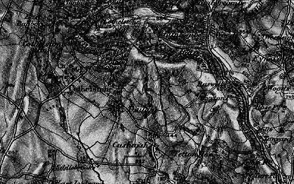 Old map of Badger Copse in 1898
