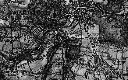 Old map of Abbey Gate Place in 1895