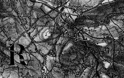 Old map of Tow Law in 1898