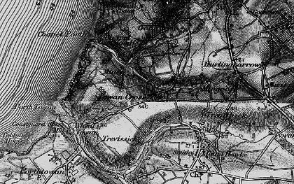 Old map of Towan Cross in 1895