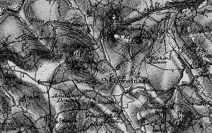 Old map of Towednack in 1896