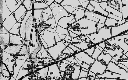 Old map of Tower Hill in 1896