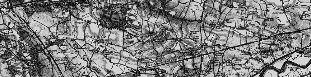 Old map of Town End in 1896