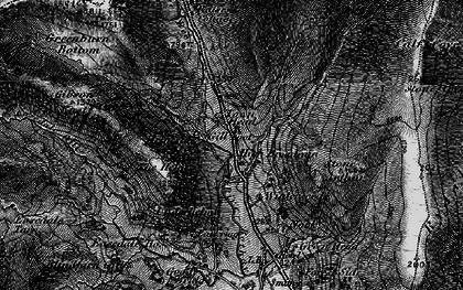 Old map of Tongue Gill in 1897