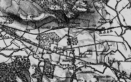 Old map of Whinfell Forest in 1897