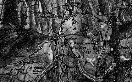 Old map of Bank Moor in 1897