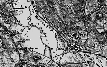 Old map of Tommy Hall's Barn in 1898