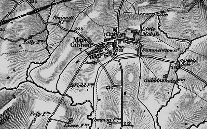 Old map of Town's End in 1896