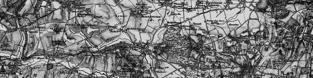 Old map of Woodbury Hill (Fort) in 1898