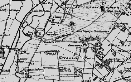 Old map of Wild Goose Carr in 1898