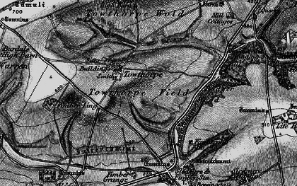 Old map of Badger Wood in 1898
