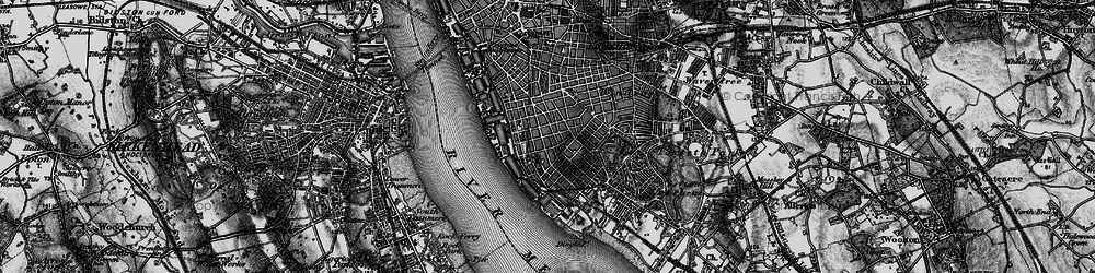 Old map of Albert Dock in 1896